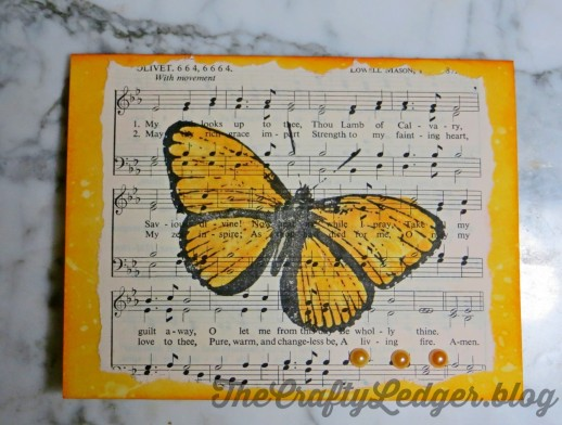 Hymn birthday card